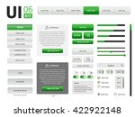 ui kit | Shutterstock . vector #422922148