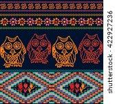 night owls. bohemian seamless... | Shutterstock .eps vector #422927236