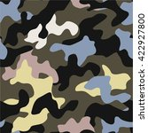 camo trendy seamless background | Shutterstock .eps vector #422927800