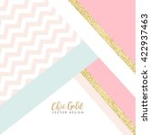 modern chic gold background... | Shutterstock .eps vector #422937463