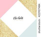 modern chic gold background...   Shutterstock .eps vector #422937484