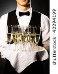 professional waiter in uniform... | Shutterstock . vector #42294199