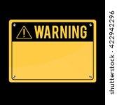 Warning Sign  Vector. Flat Sig...