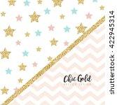 modern chic gold background... | Shutterstock .eps vector #422945314