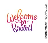 welcome to board. the trend... | Shutterstock .eps vector #422947360