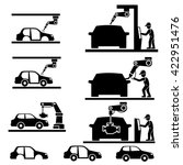 assembly car  factory icons | Shutterstock .eps vector #422951476
