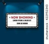 theater cinema sign. vector... | Shutterstock .eps vector #422952343