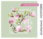 Floral Graphic Design. Magnoli...