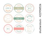 badge template with 100 ... | Shutterstock .eps vector #422958526