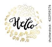 handwritten design element.... | Shutterstock .eps vector #422959276