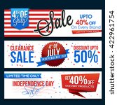 4th Of July Sale Website Heade...