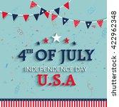 elegant greeting card design... | Shutterstock .eps vector #422962348