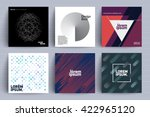 set of backgrounds with trendy... | Shutterstock .eps vector #422965120