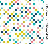 seamless polka dot pattern with ... | Shutterstock .eps vector #422967730