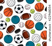 seamless pattern of ice hockey... | Shutterstock .eps vector #422968054