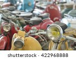 Old Motorcycles Park In A...