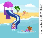 children summertime vacation... | Shutterstock .eps vector #422970940