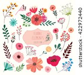 floral elements set a big... | Shutterstock .eps vector #422972440