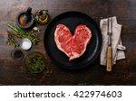 Heart Shape Raw Fresh Meat...