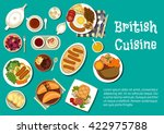 british cuisine  potatoes... | Shutterstock .eps vector #422975788