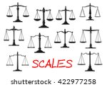 dual balance scales icons with... | Shutterstock .eps vector #422977258