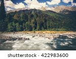 mountains river and forest... | Shutterstock . vector #422983600
