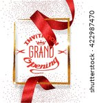 grand opening red background... | Shutterstock .eps vector #422987470