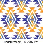 tribal watercolor seamless... | Shutterstock .eps vector #422987494