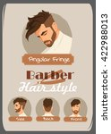 men's haircut and hairstyle.... | Shutterstock .eps vector #422988013