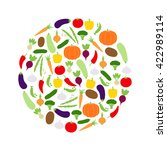 circle of vegetables  vector... | Shutterstock .eps vector #422989114