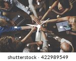 time clock organization... | Shutterstock . vector #422989549
