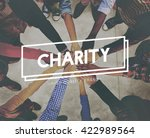 charity donations support aid... | Shutterstock . vector #422989564