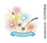 4th july fireworks background ... | Shutterstock .eps vector #422994808