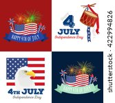 4th july fireworks background ... | Shutterstock .eps vector #422994826