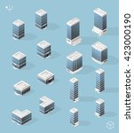 set of isometric high quality... | Shutterstock .eps vector #423000190