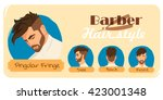 men's haircut and hairstyle.... | Shutterstock .eps vector #423001348