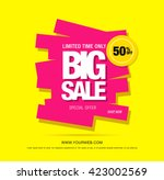 bright vector sale banner | Shutterstock .eps vector #423002569