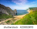 Durdle Door At The Beach On Th...