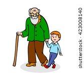 profile grandchild isolated...   Shutterstock .eps vector #423008140