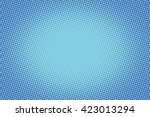retro comic blue background raster gradient halftone pop art retro style | Shutterstock vector #423013294