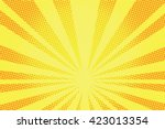 retro comic yellow background raster gradient halftone pop art retro style | Shutterstock vector #423013354
