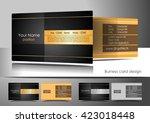 elegant business card design | Shutterstock .eps vector #423018448