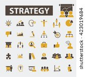 strategy icons  | Shutterstock .eps vector #423019684