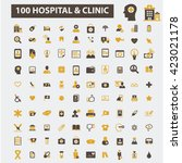 hospital clinic icons  | Shutterstock .eps vector #423021178
