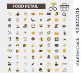 food retail icons  | Shutterstock .eps vector #423022018