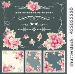 set of decorative calligraphic...   Shutterstock .eps vector #423022330