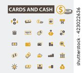 cards and cash icons  | Shutterstock .eps vector #423022636