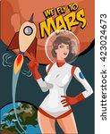 Woman Astronaut On Mars....