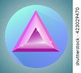 triangular minimalistic shiny...
