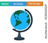 flat design icon of globe in ui ... | Shutterstock .eps vector #423032029
